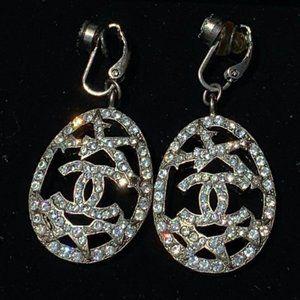 Chanel Swarovski CC Starburst Earrings